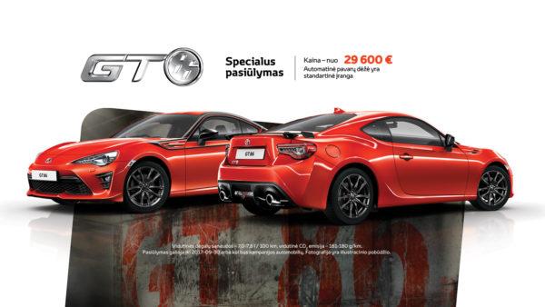 Toyota GT86 pristatymo pasiūlymas