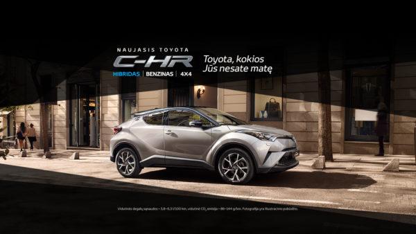 Toyota C-HR specialus pasiūlymas pristatymo proga