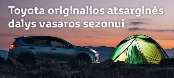 Toyota originalios atsarginės dalys vasaros sezonui nuo 7 €