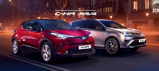Toyota C-HR ir RAV4 pasiūlymas