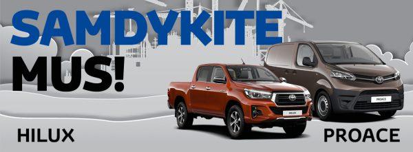 Specialūs Toyota PROACE ir Hilux pasiūlymai