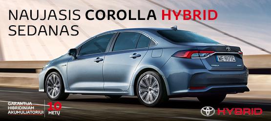 Naujojo Corolla Hybrid pasiūlymas