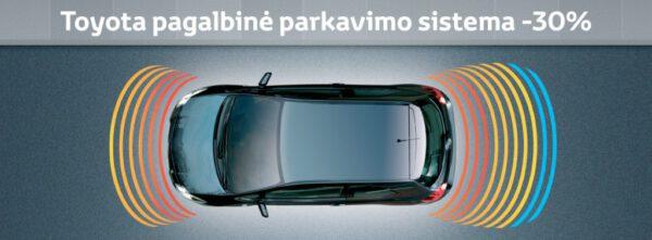 Toyota pagalbinei parkavimosi sistemai -30%