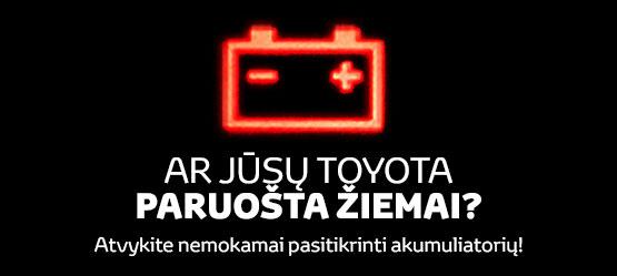Toyota originalių akumuliatorių specialus pasiūlymas