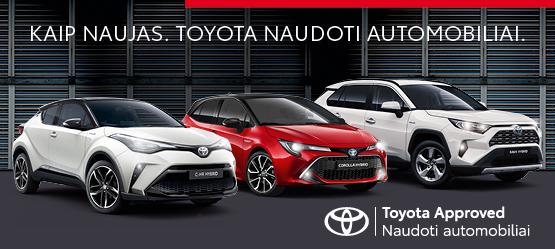 Toyota Approved mažai naudoti automobiliai