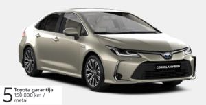 Toyota Corolla 1,8 l. Hybrid. Sedanas (REZERVUOTA)
