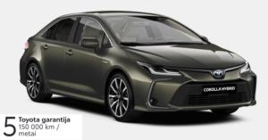 Toyota Corolla 1,8 l. Hybrid. Sedanas
