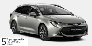 Toyota Corolla 2,0l. Hybrid. Touring Sports (REZERVUOTA)